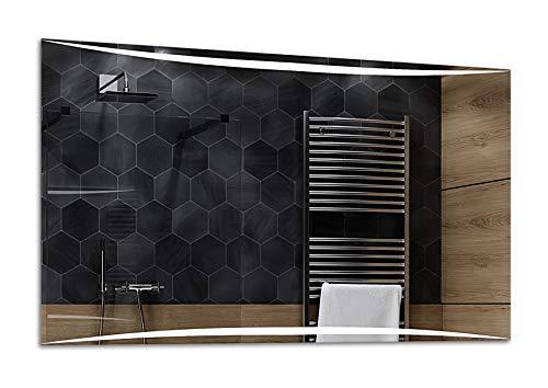 Alasta® | Wandspiegel mit LED Beleuchtung | Individuell Nach Maß | Wetterstation LED Uhr zu Wähle | Badezimmerspiegel Spiegel LED Badspiegel Wandspiegel Lichtspiegel | Vilnius
