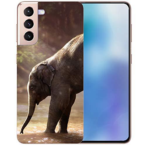 Generisch Funda blanda estampada con elefantes para tu modelo de smartphone, tamaño: Apple iPhone 7/8/SE 2020.