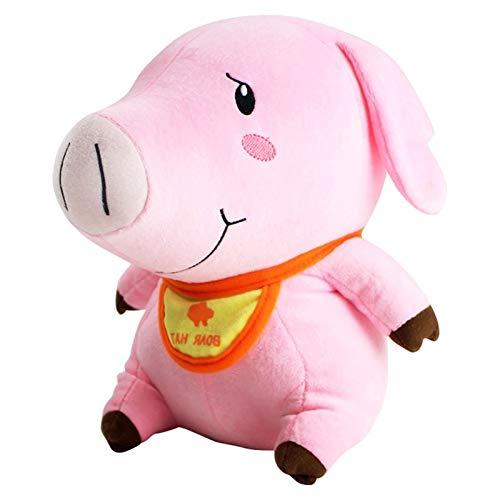 Poooc 28cm cerdo lindo muñeco de peluche de dibujos animados Toy caliente animado los siete pecados capitales Hawk cerdo de algodón de felpa muñeca de juguete de regalo de dibujos animados, tacto suav