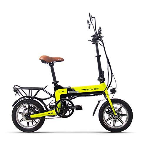 RICH BIT Bicicleta eléctrica, Bicicleta eléctrica Plegable para Adultos 250W 36V 10.2AH...