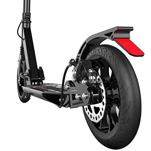 Roller Erwachsene, Zusammenklappbarer Erwachsenentretroller mit Scheibenbremse, Pendler-Scooter mit Doppelfederung und großen Rädern, höhenverstellbar, Unterstützt 100 kg