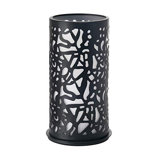 Duni Twist Bougeoir en métal pour bougie chauffe-plat ou LED Noir 140 x 75 mm