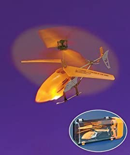 Remote Control Orange Glow-In-The-Dark Helicopter