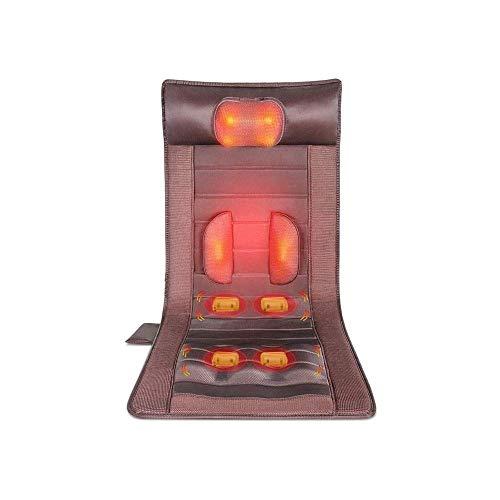 YUEXING Memory Foam Massage mat with Heat, 6 Therapy Heating Pads, 10 Vibration Motors Massage Mattress pad, Full Body Massage Pillow Relieve Neck, Back, Waist, Legs Pain