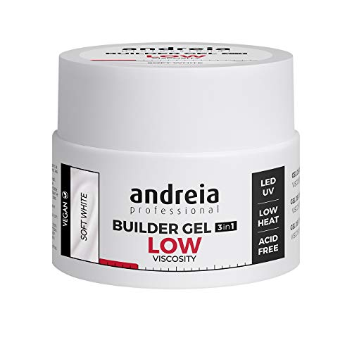 Andreia Professional Profection Builder Gel 3 en 1 - Construcción de uñas trifásica - Blanco suave 44g