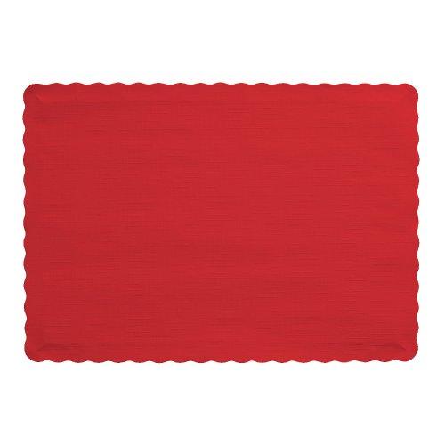 Creative Converting 318937 manteles individuales de 50 unidades, 9.5 x 13.38 pulgadas, color amatista, Rojo Clásico, 10' x 14', 1