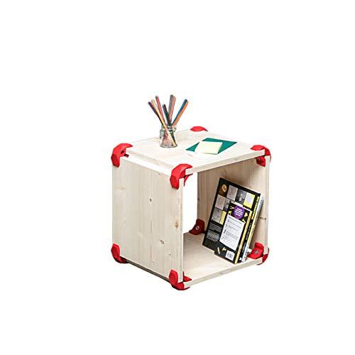 PlayWood, cubo componible madera abeto estante porta
