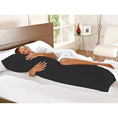 Travesseiro De Corpo Com Fronha Mega 100% Algodão Preto