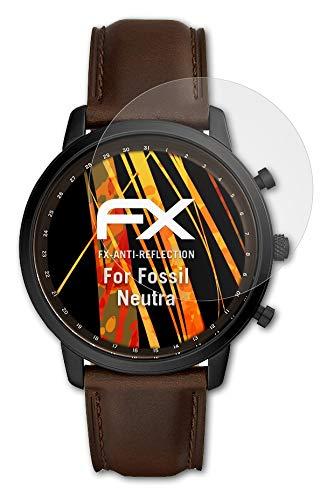 atFoliX Panzerfolie kompatibel mit Fossil Neutra Schutzfolie, entspiegelnde & stoßdämpfende FX Folie (3X)