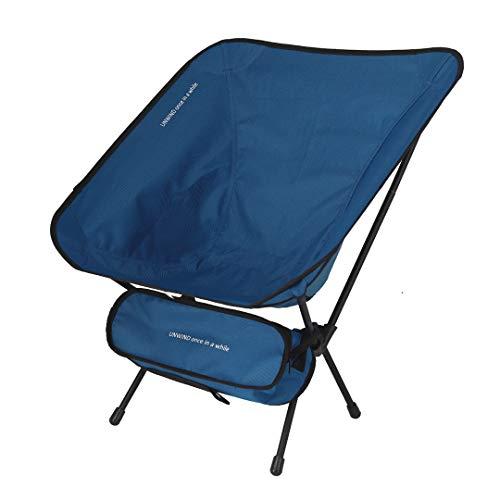 アウトドアチェア コンパクトチェア 折りたたみ椅子 キャンプ 公園 (ブルー, 35)
