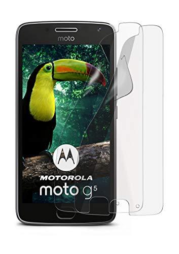 2X Lenovo Moto G5 | Schutzfolie Matt Display Schutz [Anti-Reflex] Screen Protector Fingerprint Handy-Folie Matte Displayschutz-Folie für Motorola Moto G5 Displayfolie