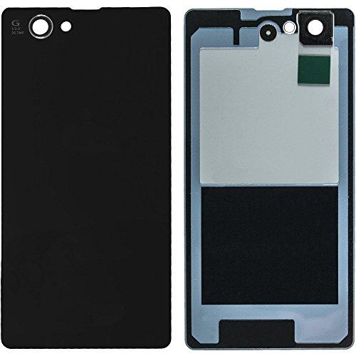 Spes - Set de Reparación para Sony Xperia Z1L39H C6903LT39H, Carcasa superior, Tapa Trasera de Batería en negro con antena NFC + Adhesivo protector de pantalla + Herramientas