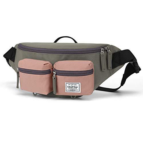 WindTook Gürteltasche Bauchtasche Hüfttasche Herren Damen Sport Brusttasche, Doggy Bag Taschen Laufgürtel für Reise Wanderung Outdoor-Aktivitäten, Pink