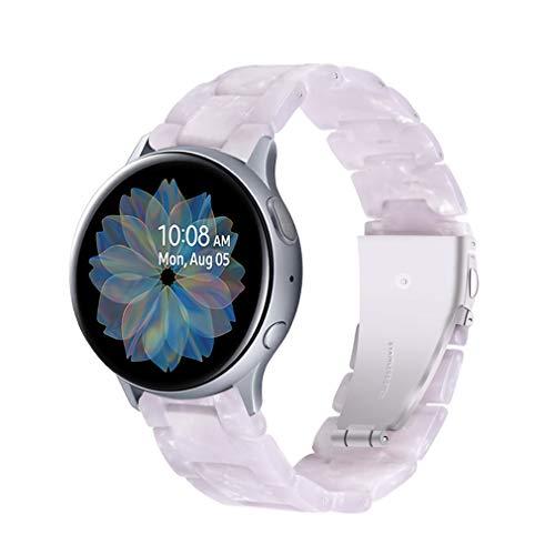 Armband für Galaxy Watch 42mm, Miya Resin Ersatzarmband Armband Faltschließe Armband Damen Herren Armband WatchBand für Samsung Galaxy Watch Active 2 40mm/Gear S3 Frontier/Gear S2 (A08)