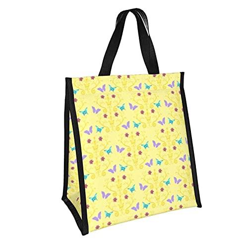 Bolsa de almuerzo con patrón de origami, bolsa de aislamiento plegable, caja de almuerzo reutilizable para picnic, escuela, trabajo, niños, 10 x 11 pulgadas