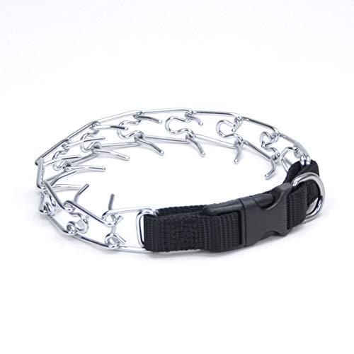 Coastal - Titan - Easy-On Dog Prong Training Collar with Buckle, Black, 3.0 mm x 18'