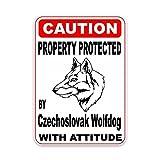 JZLMF Etiqueta engomada del Coche de la Moda de la decoración del Animal doméstico del Perrito protegida por el Perro Lobo checoslovaco