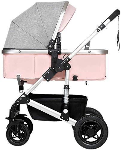 AYDQC Cochecito de bebé recién Nacido Cochecito de bebé bebé, Plegable liviano Amortiguador Amortiguador niños Empuje carros bebé Carro Infantil aleación de Aluminio Marco fengong