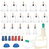 Cupping Therapy Equipment Set Professional 18 Piezas de Ventosas de Chinas Vacío Fijados, Ahuecamiento, Tratamiento Ventosas Masaje, Terapia biomagnética tradicional china Cupping Set