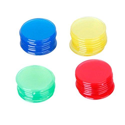 rosenice 400 Stück Bingo Chips Zähler Plastik 4 Farben