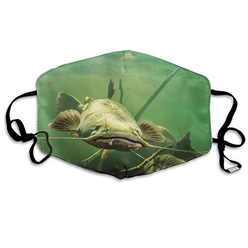 Mascarilla para boca de pez gato en el agua, ajustable, antipolvo, lav