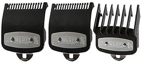 Wahl Professional Premium Cutting Guide With Metal Secure Clip: #1/2', 1', 1 1/2'. Combo set #3354-1000, 1100, 1300 Fits All Wahl Clippers/Trimmers