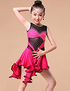 2f12312af Latin Dance Dresses&Skirts Children's Performance/Training Milk Fiber  Crystals/Rhinestones / Ruffles