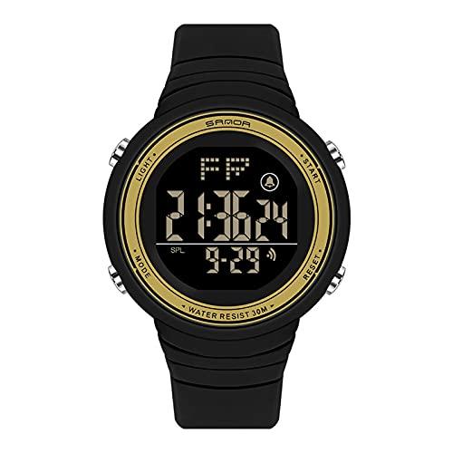 LJSF Relojes de Simulación Digital, Moda Simple Student Reloj Electrónico a Prueba de Agua LED Reloj de Pulsera de Pantalla Grandecon Alarma Pantalla Luminosa, para Damas,Set6
