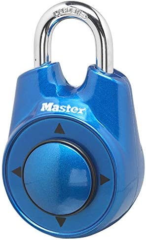 Master Lock 1500iD Locker Lock Set Your Own Directional Combination Padlock 1 Pack Blue product image