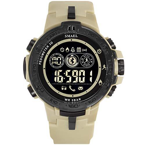 UINGKID Collection Unisex-Armbanduhr Herren Uhren Ultra Dünne SMAEL Bluetooth Smart Sport Herrenuhr Style Clock Call Calorie Digitaluhren