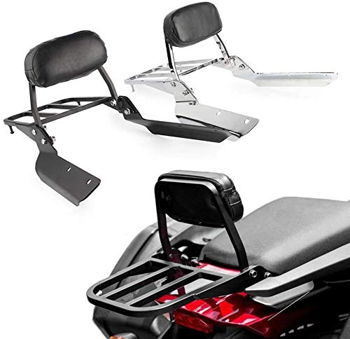 Promise Faster Chrome Backrest Sissy Bar + Luggage Rack Pad for Honda CTX700/D CTX700N/ND 2014-2019