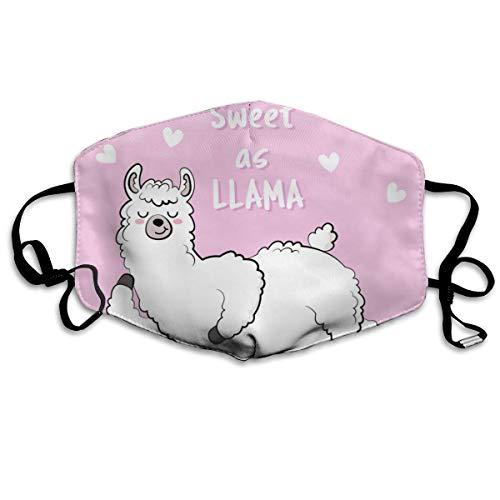 Houity stofdicht wasbaar masker, Sweet Lama Doodle, zacht, ademend, wasbaar, knop verstelbaar masker, geschikt voor mannen en vrouwen maskers