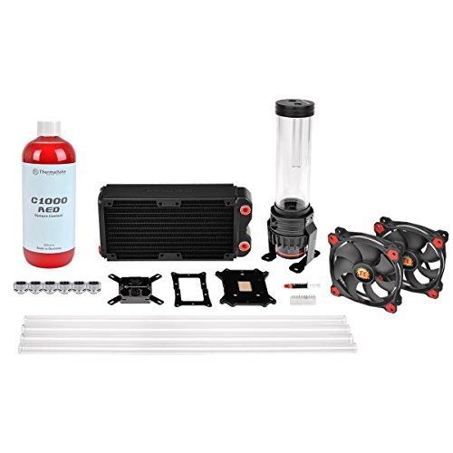 Thermaltake RL240-D5 - Kit de refrigeración líquida Personalizada, Color Negro y Rojo