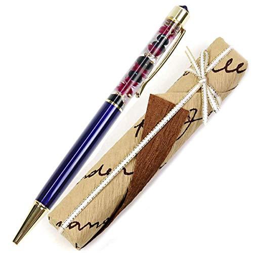 【ギフトラッピング済み】 ハーバリウムボールペン スワロフスキー ボールペン 名入れ 誕生石 イメージ ハーバリウム ペン かわいい ギフト 誕生日 花 プリザーブドフラワー 卒業 記念 プレゼント 女性 Aliceflower スノープリンセス 母の日