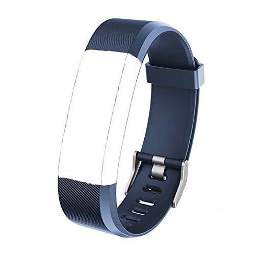 Ersatz Armband Smart Watch Pedometer Aktivitätstracker Ersatzriemen Einstellbares Weiches Silikonersatzband für ID115 HR Plus ID115 Plus Fitness Tracker, Blau