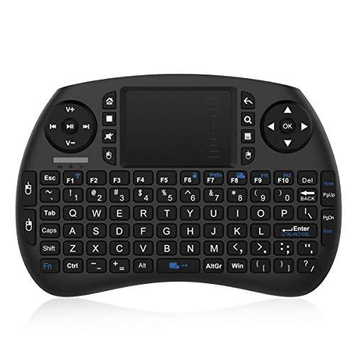 Bqeel 2.4GHz Wireless Mini Tastiera con Touchpad, Batteria Ricaricabile, 92 Tasti, Scroll Wheel, DPI funzioni Regolabili, 3 in 1 Multifunzione, per Mini PC, Android TV Box, HTPC, IPTV, Pad (Egoiggo)