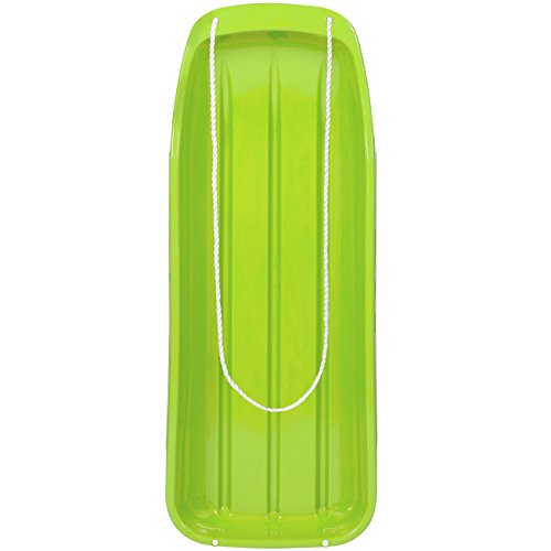 Best Choice Products 48in Kids Plastic Toboggan Snow Sled w/Pull Rope, Green