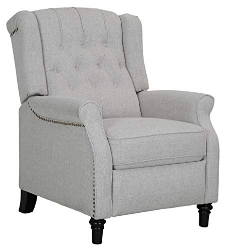 Ravenna Home Pritchard  Antique Recliner 4 Living Room Chair, Fabric, BUFF