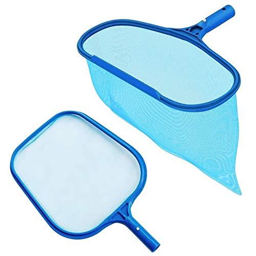 XiaoOu Accesorios para Piscinas Rastrillo de Piscina de Bolsa Profunda de Alta Resistencia y Red para Nadar con Malla Fina, se Adapta a la mayoría de los Postes estándar para Limpiar Piscinas, Azul