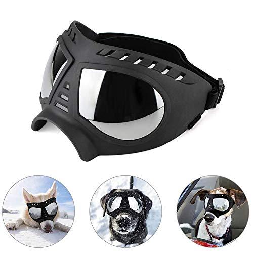 DALEI Gafas para Perros Grandes- Gafas de Sol con protección para los Ojos para Perros Gafas para Nieve para Perros Grandes,Negro