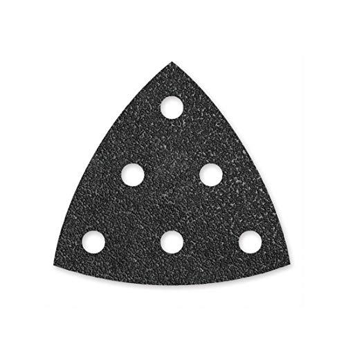 MENZER Black Klett-Schleifblätter, 93 mm, 6-Loch, Korn 60, f. Deltaschleifer, Siliciumcarbid (50 Stk.)