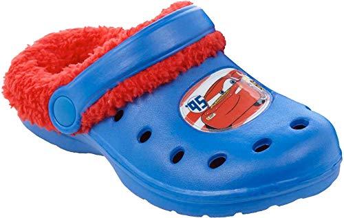 Disney Cars Jungen Sandalen mit Teddyfutter - blau - 24/25