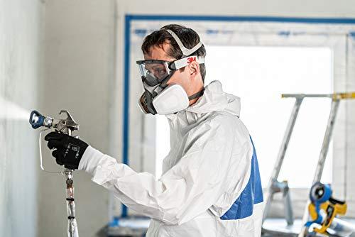 3M Mehrweg-Halbmaske 6002C - Halbmaske mit Wechselfiltern gegen organische Gase, Dämpfe und Partikel - Für Farbspritz- und Maschinenschleifarbeiten - 7