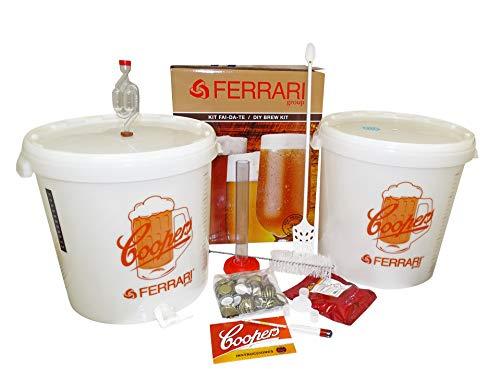 Palucart Kit FERMENTAZIONE Coopers ''Excellent'' per Birra Artigianale Fatta in CASA con 2 CONTENITORI + Malto European Lager