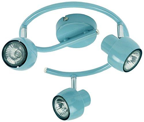 Mathias 3360375 Jett Spot 3 Lumières 35 W GU10 230 V Bleu Diamètre 25 cm Hauteur 13,4 cm