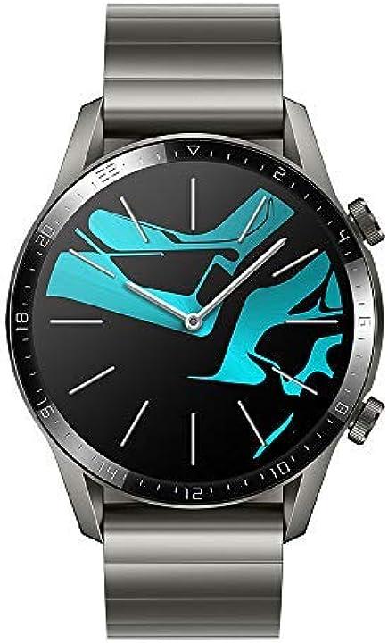 Smartwatch huawei watch gt 2 46 mm, durata batteria fino a 2 settimane, gps, 15 modalità di allenamento Latona-B19B