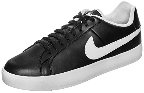 Nike Mens Court Royale Lw Leather Fitness Shoes Black White 11 UK