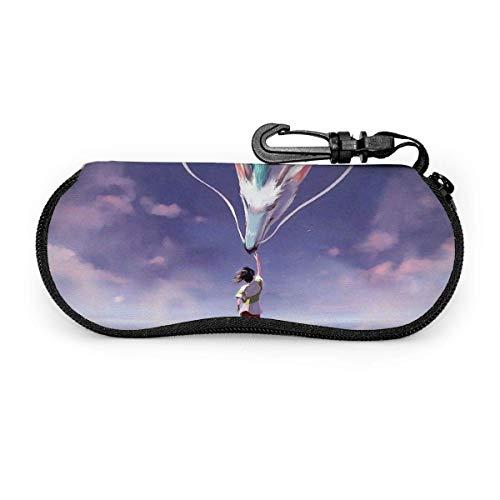 Astuccio Per Occhiali Da Sole,La Città Incantata,Custodia Per Occhiali Morbido Unisex,Astuccio Per Occhiali Portatile A Cerniera,Neoprene Portaocchiali