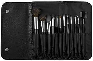 Coastal Scents 12-Piece Makeup Brush Set with Leather Case