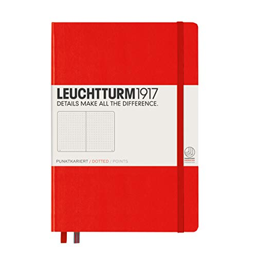 Leuchtturm 1917, taccuino (A5), copertina rigida, 249 pagine A puntini Dotted Rot, 249 Pezzi